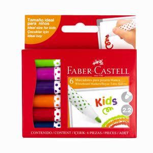 Faber Castell - Faber Castell Kids 6'lı Mini Beyaz Tahta Kalemi 35 85 06 1327