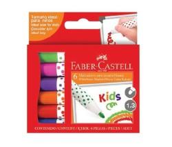 Faber Castell - Faber Castell Mini Tahta Kalemi 6'lı