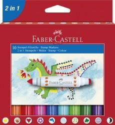 Faber Castell - Faber Castell Mühürlü Keçeli Kalem 10'lu