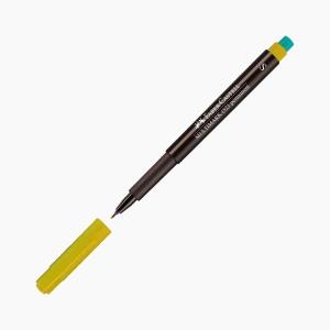 Faber Castell - Faber-Castell Multimark 1523 Permanent Kalem S (Superfine) Sarı 3079