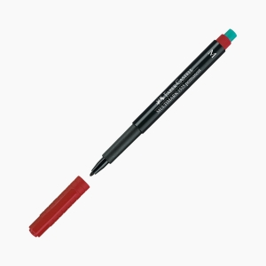 Faber Castell - Faber-Castell Multimark 1525 Permanent Kalem M (Medium) Kırmızı 5219