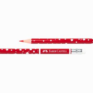 Faber Castell - Faber Castell Silgili Kırmızı Başlık Kalemi Yıldızlı 1303 (1)