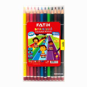 Fatih - Fatih 12'li Kuru Boya Seti Plastik Kutulu 2853