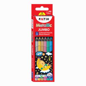 Fatih - Fatih 6′lı Metalik Jumbo Kuruboya Seti 3607