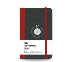 Flex Book - Flex Book Defter Çizgisiz A6 Kırmızı
