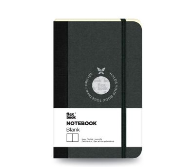 Flex Book Defter Çizgisiz A6 Siyah 1655
