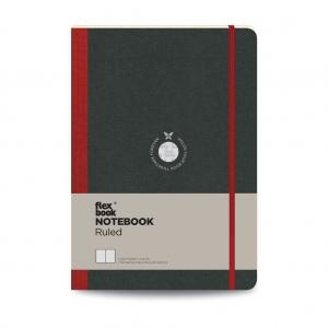 Flex Book - Flex Book Notebook Large Çizgili Defter Kırmızı 1587