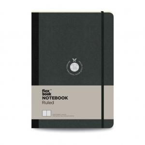 Flex Book - Flex Book Notebook Large Çizgili Defter Siyah 1556
