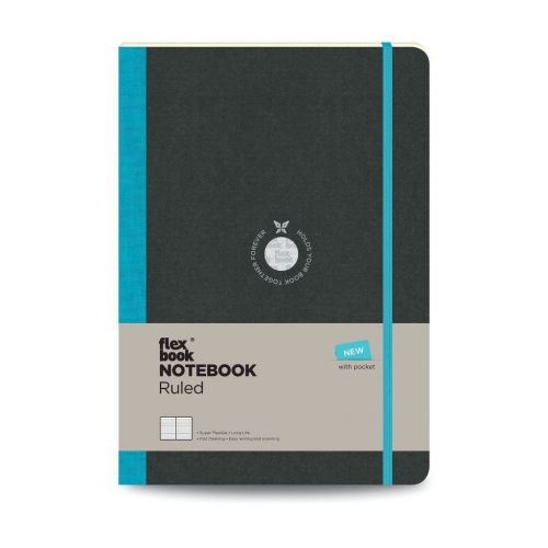 Flex Book Notebook Large Çizgili Defter Turkuaz 2638