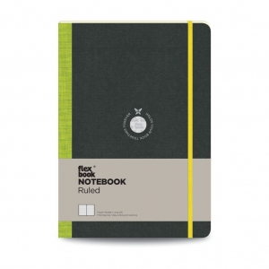 Flex Book Notebook Large Çizgili Defter Yeşil 1570 - Thumbnail