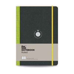 Flex Book - Flex Book Notebook Large Çizgili Defter Yeşil 1570