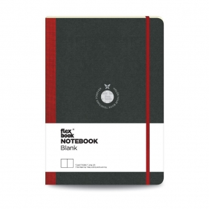 Flex Book - Flex Book Notebook Large Çizgisiz Defter Kırmızı 1617