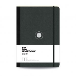 Flex Book - Flex Book Notebook Large Çizgisiz Defter Siyah 1594