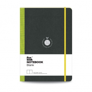Flex Book - Flex Book Notebook Large Çizgisiz Defter Yeşil 1600