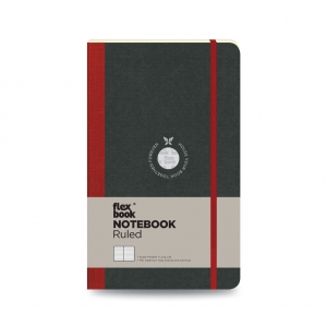 Flex Book - Flex Book Notebook Medium Çizgili Defter Kırmızı 1396