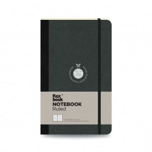 Flex Book - Flex Book Notebook Medium Çizgili Defter Siyah 1389