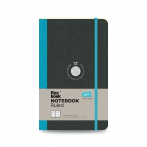 Flex Book - Flex Book Notebook Medium Çizgili Defter Turkuaz 2645