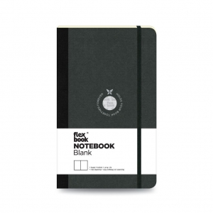 Flex Book - Flex Book Notebook Medium Çizgisiz Defter Siyah 1624