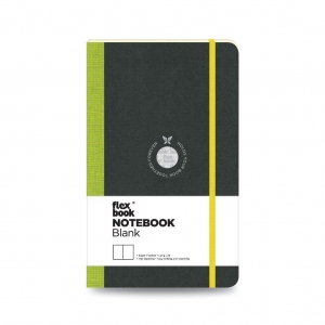 Flex Book - Flex Book Notebook Medium Çizgisiz Defter Yeşil 1631