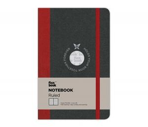 Flex Book - Flex Book Notebook Small Çizgili Defter Kırmızı 1419