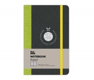 Flex Book - Flex Book Notebook Small Çizgili Defter Yeşil 1426