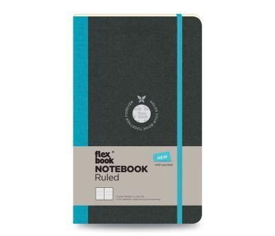 Flex Book Notebook Small Çizgili Turkuaz