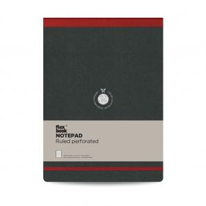 Flex Book - Flex Book Notepad A4 Çizgili Perforeli Defter Kırmızı 2386