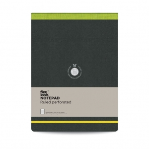 Flex Book - Flex Book Notepad A4 Çizgili Perforeli Defter Yeşil 2393