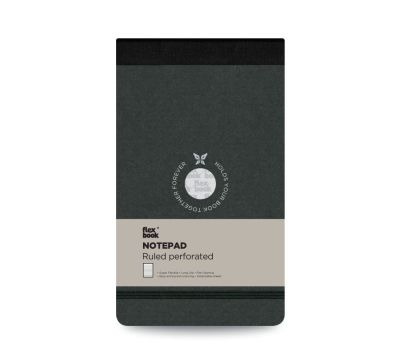 Flexbook Çizgili Notepad 10x17cm Siyah Perforeli 2430