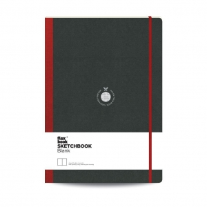 Flex Book - Flex Book SketchBook A4 Çizim Defter Kırmızı 1747