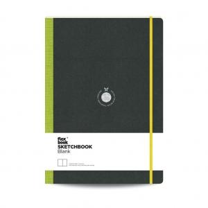 Flex Book - Flex Book SketchBook A4 Çizim Defter Yeşil 1754