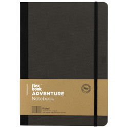 Flex Book - Flexbook Adventure Off-Black Çizgili Defter 17X24 cm 3260