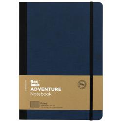 Flex Book - Flex Book Adventure Royal Blue Çizgili Defter 17X24 cm 3284