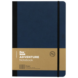 Flex Book - Flexbook Adventure Royal Blue Çizgili Defter 17X24 cm 3284