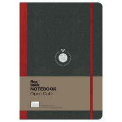 Flex Book - Flexbook Notebook Open Date 17X24 Cm Çizgili Kırmızı