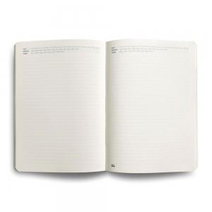 Flex Book - Flex Book Notebook Open Date Large Çizgili Defter Siyah 1686 (1)