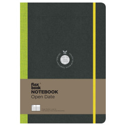Flex Book - Flexbook Notebook Open Date Large Çizgili Defter Yeşil 1693