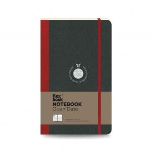 Flex Book - Flex Book Notebook Open Date Medium Çizgili Defter Kırmızı 1730