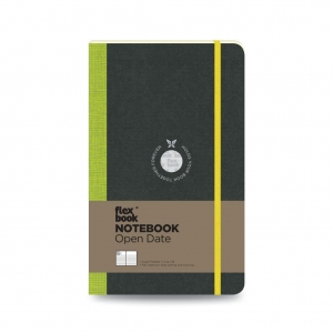 Flex Book - Flex Book Notebook Open Date Medium Çizgili Defter Yeşil 1723