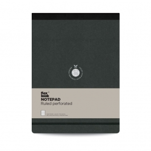 Flex Book - Flex Book Notepad A4 Çizgili Perforeli Defter Siyah 2409