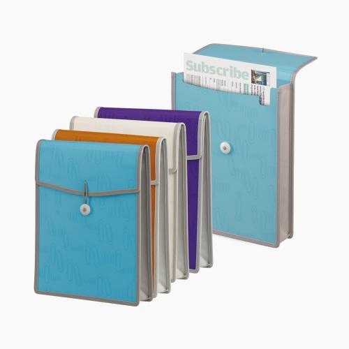 Foldermate iClip A4 Körüklü Dosya 50459 Ataşlı