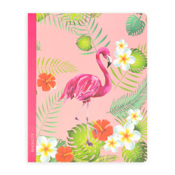 Keskin Color - Fuşya Flamingo Çizgili Defter 20x25 cm