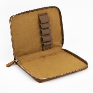 Galen Leather - Galen Leather 5′li Deri Kalem Çantası Crazy Horse Brown (1)