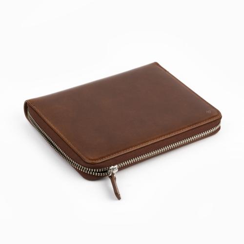 Galen Leather 5′li Deri Kalem Çantası Kahve