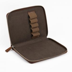 Galen Leather - Galen Leather 5′li Deri Kalem Çantası Kahve (1)