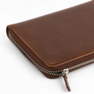 Galen Leather 5′li Deri Kalem Çantası Kahve - Thumbnail
