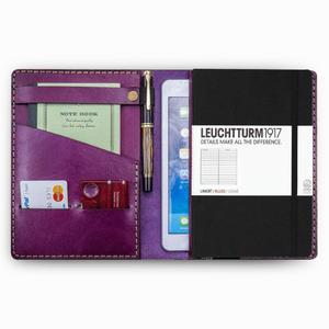 Galen Leather - Galen Leather A5 Deri Journal Organizer Purple