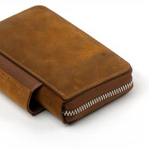 Galen Leather - Galen Leather EDC Deri Kalem Çantası-Cüzdan Crazy Kahve (1)