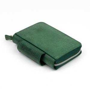 Galen Leather - Galen Leather EDC Deri Kalem Çantası-Cüzdan Crazy Yeşil