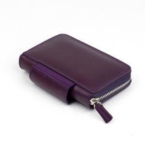 Galen Leather - Galen Leather EDC Deri Kalem Çantası-Cüzdan Mor